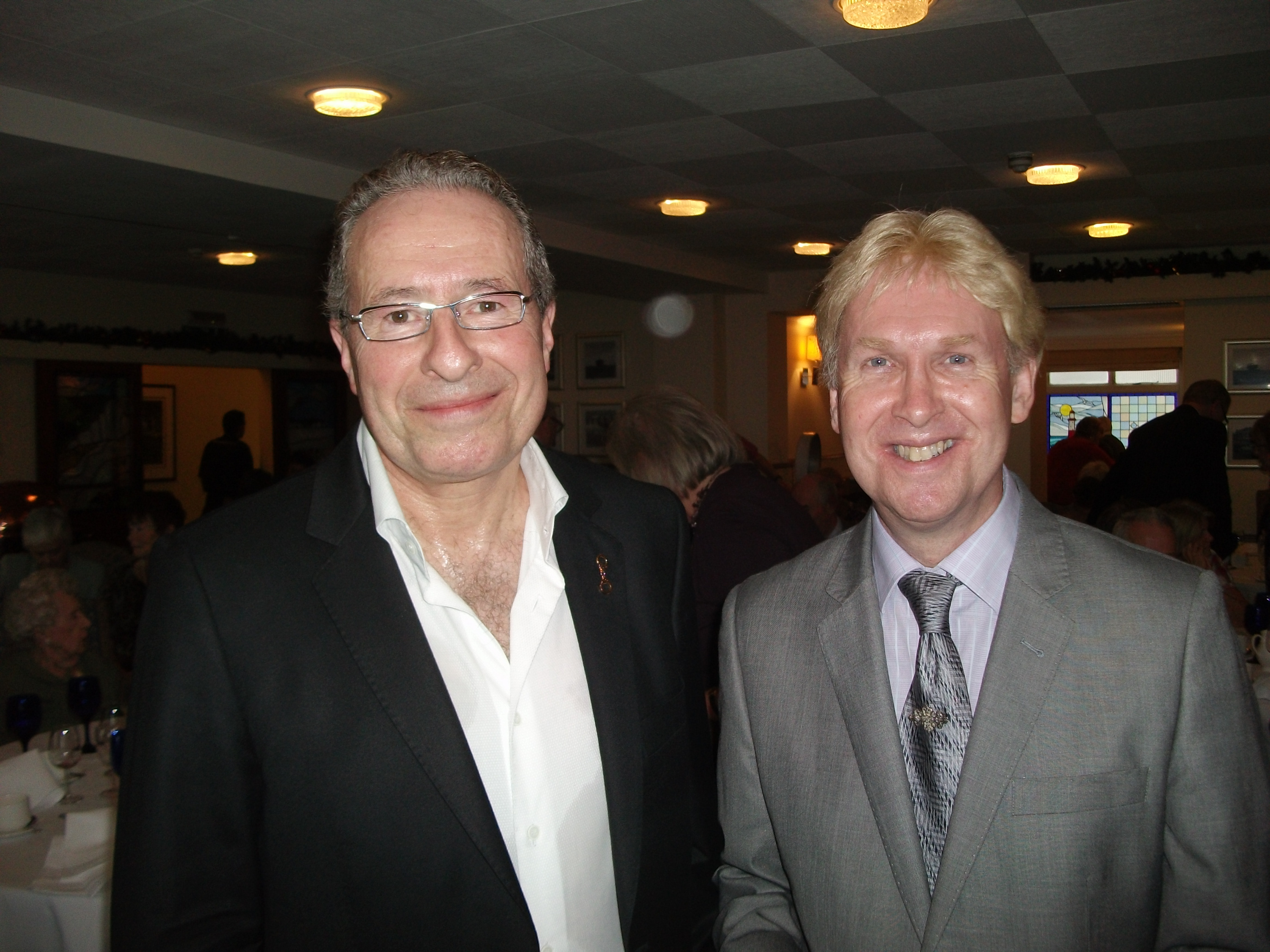 paul james a life of variety best selling crime writer peter james and paul james at a literary lunch 2012